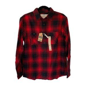 NWT Urban Pipeline Red Plaid Button Up Shirt S